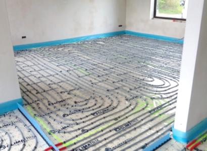 Nieuwbouw vloerverwarming